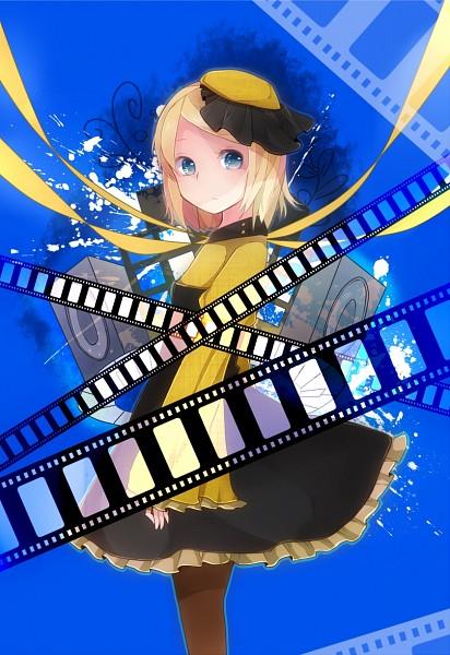 Tags: Anime, Makishimu, VOCALOID, Kagamine Rin, Filmstrip, Pixiv, Mobile Wallpaper, PNG Conversion, Fanart, Rin Kagamine