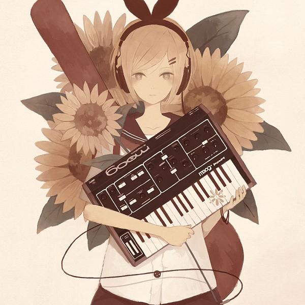 Tags: Anime, Mitsuki Mouse, VOCALOID, Kagamine Rin, Fanart, Pixiv, Rin Kagamine