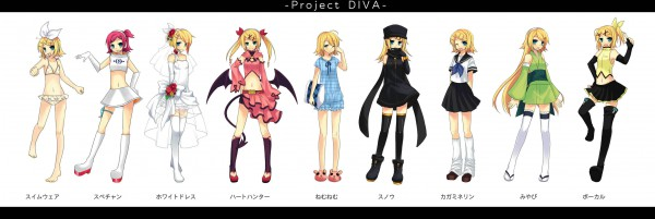 Tags: Anime, Tamura Hiro, Project DIVA 2nd, VOCALOID, Kagamine Rin, Russian Clothes, Ulala (Cosplay), Frilled Bikini, Project DIVA Miyabi, Project DIVA Nemu Nemu, Project DIVA Snow, Project DIVA Heart Hunter, Twitter Header, Rin Kagamine