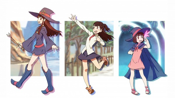 Tags: Anime, Piroaki*, Little Witch Academia, Kagari Atsuko, Age Progression, I Love You Gesture, Pixiv, Wallpaper, HD Wallpaper, Fanart From Pixiv, Fanart, Facebook Cover