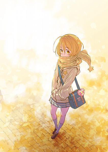 Tags: Anime, Pixiv Id 278917, HUGtto! Precure, Kagayaki Homare, Yellow Outerwear, Yellow Hoodie, Pixiv, Fanart, Fanart From Pixiv