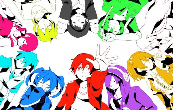 Tags: Anime, Sidu, Kagerou Project, Kisaragi Shintaro, Asahina Hiyori, Enomoto Takane, Kano Shuuya, Kido Tsubomi, Kokonose