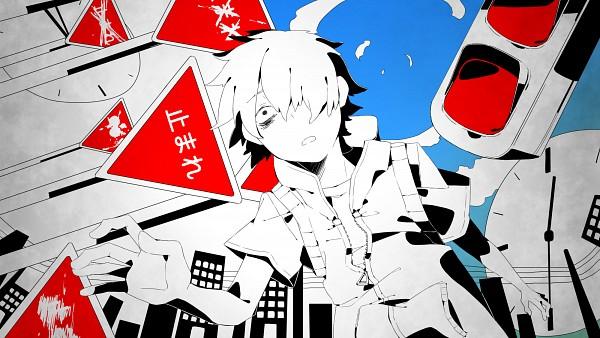 Tags: Anime, Sidu, Kagerou Project, Amamiya Hibiya, Traffic Light, Utility Pole, Skyscraper, Facebook Cover, Wallpaper, HD Wallpaper