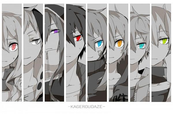Tags: Anime, Mico (Mikomizu), Kagerou Project, Enomoto Takane, Kisaragi Shintaro, Kido Tsubomi, Kano Shuuya, Amamiya Hibiya, Kokonose