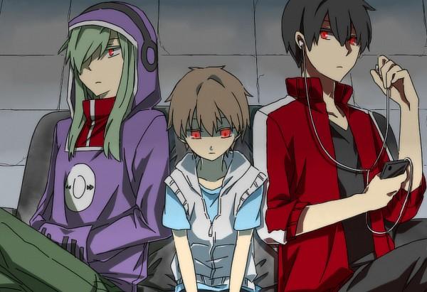 Tags: Anime, Takayan, Kagerou Project, Kido Tsubomi, Amamiya Hibiya, Kisaragi Shintaro