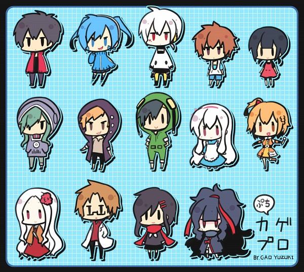 """Tags: Anime, Yuzuki Gao, Kagerou Project, Tateyama Kenjirou, Kano Shuuya, Kido Tsubomi, Tateyama Ayano, Enomoto Takane, Kokonose """"Konoha"""" Haruka, Amamiya Hibiya, Seto Kousuke, Kisaragi Momo, Kozakura Shion"""