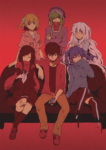 Tags: Anime, Ryou (Pixiv247657), Kagerou Project, Kisaragi Shintaro, Kisaragi Momo, Enomoto Takane, Kozakura Marry, Kido Tsubomi, Tateyama Ayano, Fanart, Fanart From Pixiv, Mobile Wallpaper, Pixiv