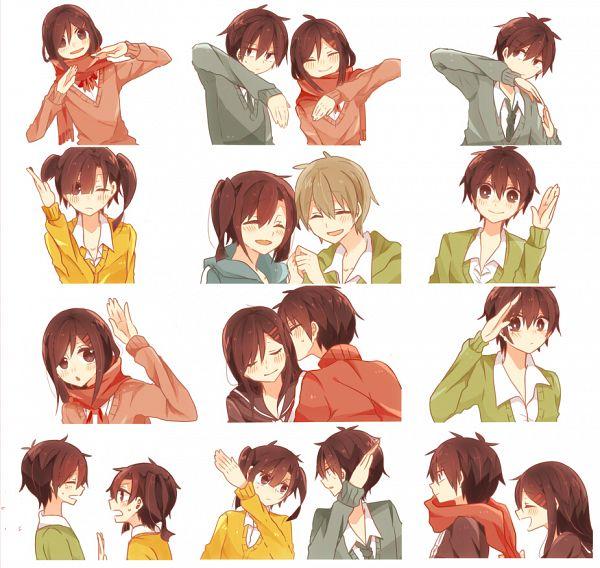 "Tags: Anime, Pixiv Id 7511290, Kagerou Project, Kisaragi Shintaro, Kokonose ""Konoha"" Haruka, Enomoto Takane, Tateyama Ayano, Heart Gesture Duo, PNG Conversion, Pixiv, Hātotoresu, Fanart, Fanart From Pixiv"