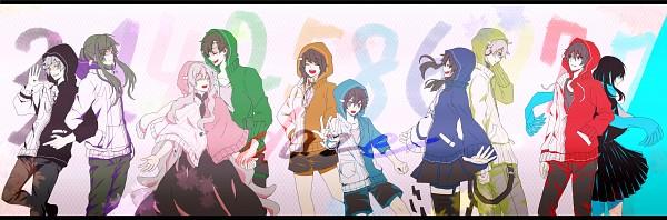 """Tags: Anime, Modoromi, Kagerou Project, Enomoto Takane, Kano Shuuya, Amamiya Hibiya, Kokonose """"Konoha"""" Haruka, Tateyama Ayano, Kisaragi Momo, Seto Kousuke, Kozakura Marry, Kisaragi Shintaro, Kido Tsubomi"""