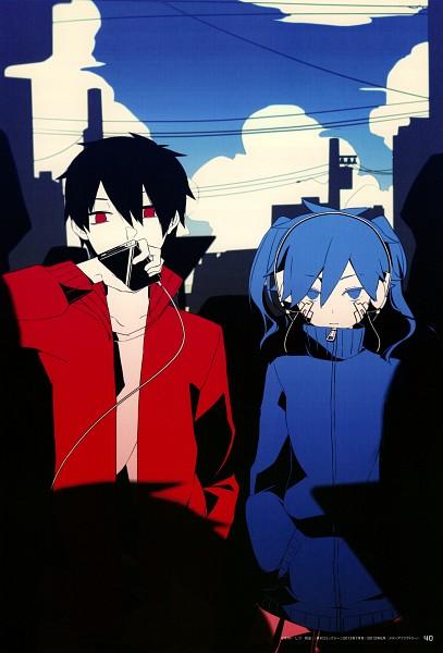 Tags: Anime, Satou Mahiro, Sidu, Kagerou Project, Kisaragi Shintaro, Enomoto Takane, Official Art, Mobile Wallpaper
