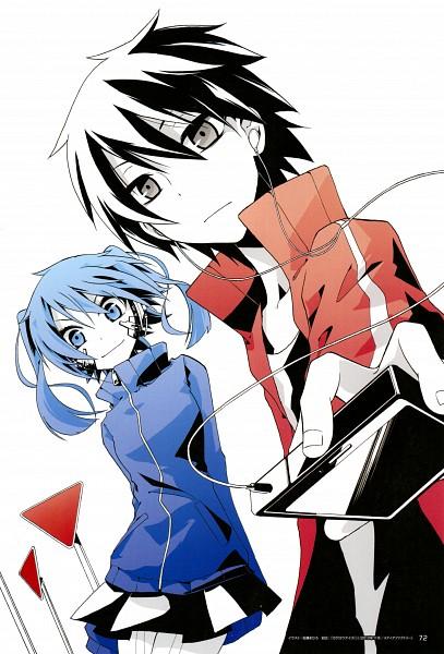 Tags: Anime, Satou Mahiro, Kagerou Project, Kisaragi Shintaro, Enomoto Takane, Official Art, Mobile Wallpaper, The Story Of The Children That Rise Against