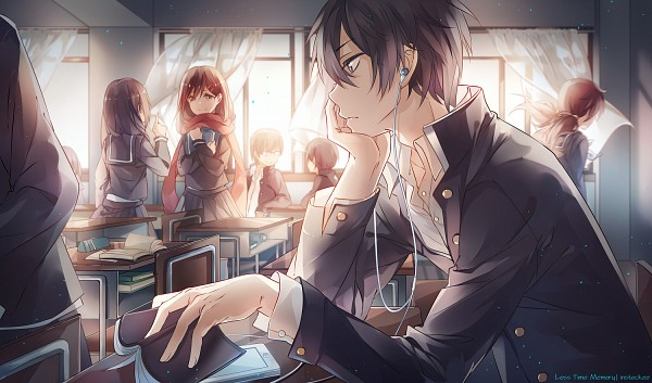Tags: Anime, INstockee, Kagerou Project, Kisaragi Shintaro, Tateyama Ayano, Earbuds, Fanart From DeviantART, Pixiv, Fanart From Pixiv, Fanart, Revision, PNG Conversion, deviantART, The Story Of The Children That Rise Against