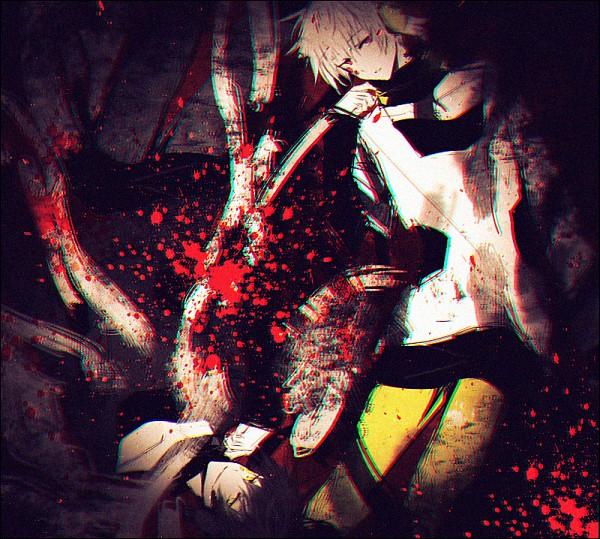 "Tags: Anime, hakusai, Kagerou Project, Dark Konoha, Kokonose ""Konoha"" Haruka, Dark Colors, Yellow Pants, Fanart From Pixiv, Pixiv, Fanart"
