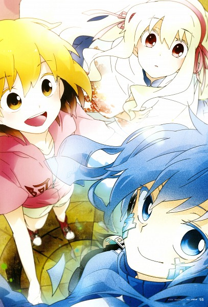 Tags: Anime, Wannyanpu, Kagerou Project, Enomoto Takane, Kisaragi Momo, Kozakura Marry, Official Art, The Story Of The Children That Rise Against