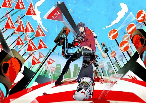 Tags: Anime, Daikingai, Kagerou Project, Bis, Skyscraper, Traffic Light, Run Through, Nico Nico Singer, Pixiv