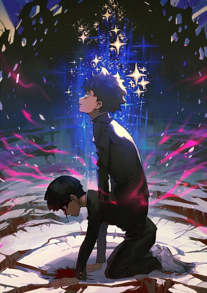 Tags: Anime, Aoki (Pixiv60197), Mob Psycho 100, Kageyama Shigeo, Fanart From Pixiv, Mobile Wallpaper, PNG Conversion, Pixiv, Fanart
