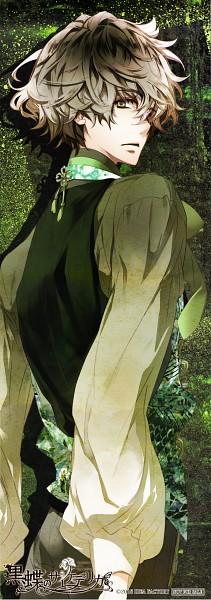 Tags: Anime, Kokuchou no Psychedelica, Kagiha (Kokuchou no Psychedelica), Artist Request, Stick Poster, Scan