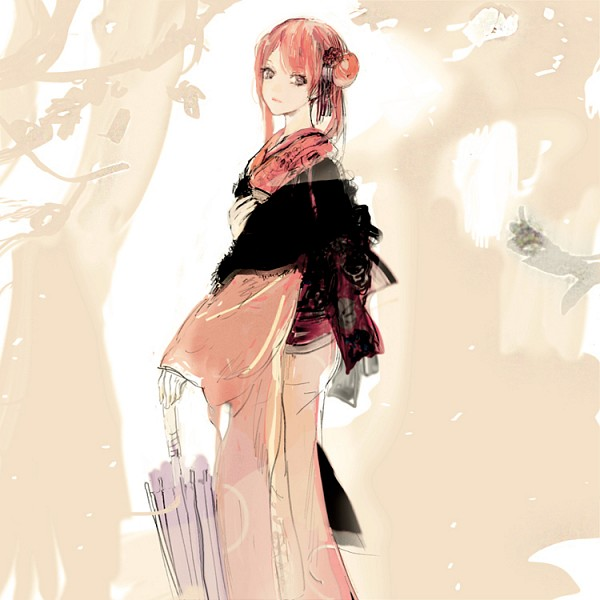 Tags: Anime, Pixiv Id 4277119, Gintama, Kagura (Gin Tama), Revision, Sketch, 2 Years After, Fanart From Pixiv, Fanart, Pixiv