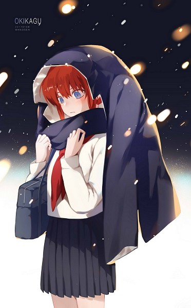 Tags: Anime, Pixiv Id 7989041, Gin Tama, Kagura (Gin Tama), Character Reference, Coat Over Head, Borrowed Clothes, Text: Couple Name, Fanart From Pixiv, Fanart, 3z, Pixiv, Mobile Wallpaper