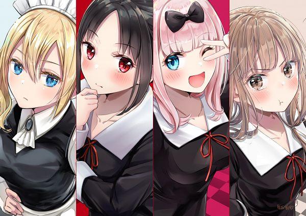 Tags: Anime, Pixiv Id 37985868, Kaguya-sama wa Kokurasetai, Hayasaka Ai, Iino Miko, Fujiwara Chika, Shinomiya Kaguya, Kaguya-sama: Love Is War