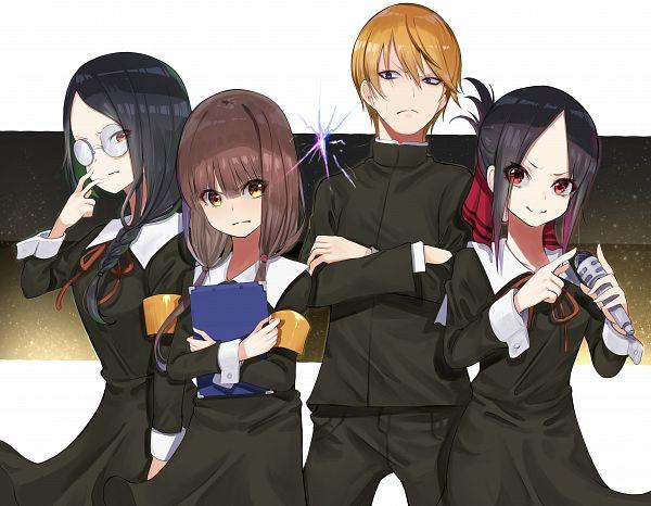 Tags: Anime, Pixiv Id 39551247, Kaguya-sama wa Kokurasetai, Iino Miko, Shirogane Miyuki (Kaguya-sama wa Kokurasetai), Shinomiya Kaguya, Osaragi Kobachi, Clipboard, Kaguya-sama: Love Is War