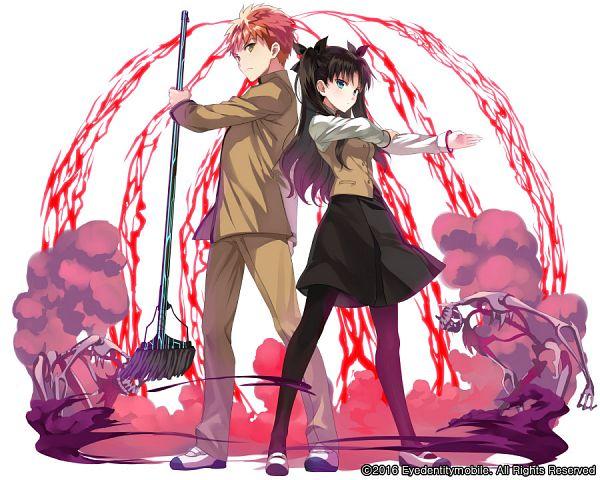 Tags: Anime, Pixiv Id 24570647, SQUARE ENIX, Fate/stay night: Unlimited Blade Works, Kai-ri-sei Million Arthur, Fate/stay night, Tohsaka Rin, Emiya Shirou, Official Art