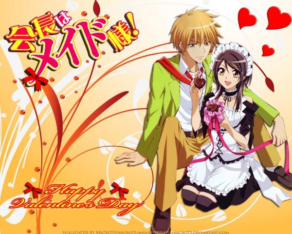 Tags: Anime, J.C.STAFF, Kaichou wa Maid-sama!, Ayuzawa Misaki, Usui Takumi, Wallpaper
