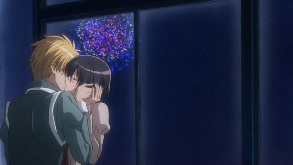 Tags: Anime, Kaichou wa Maid-sama!, Ayuzawa Misaki, Usui Takumi, Screenshot, Facebook Cover, Wallpaper