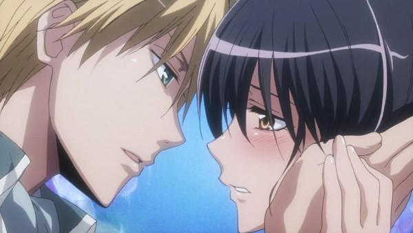 Tags: Anime, Kaichou wa Maid-sama!, Usui Takumi, Ayuzawa Misaki, Screenshot, Facebook Cover, Wallpaper
