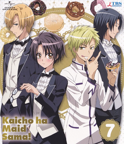 Tags: Anime, Kaichou wa Maid-sama!, Igarashi Tora, Ayuzawa Misaki, Usui Takumi, Miz Simple, DVD (Source), Official Art, Scan