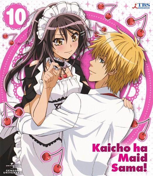 Tags: Anime, Kaichou wa Maid-sama!, Ayuzawa Misaki, Usui Takumi, Scan, Official Art, DVD (Source)