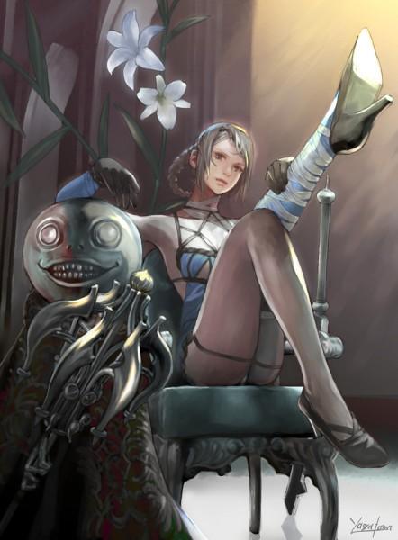 Tags: Anime, Jasmine T, NieR, Emil (NieR), Kaine, deviantART, Fanart
