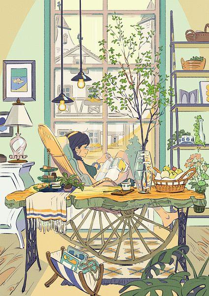 Tags: Anime, Kaisen, Shelf, Original, Pixiv