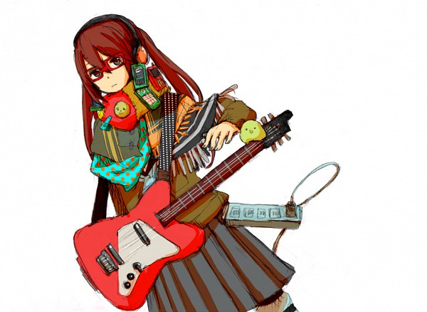 Tags: Anime, VOCALOID, Kubozono Chiyoko, Electric Guitar, Kaitou・Kubozono Chiyoko wa Zettai Misuranai, Pixiv