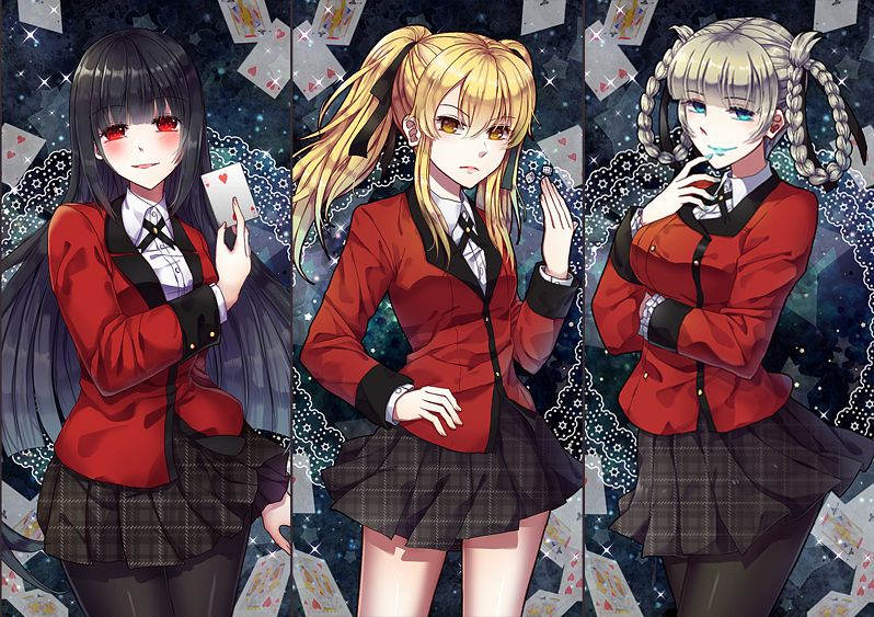 Tags: Anime, Tol (Artist), Kakegurui, Saotome Mary, Jabami Yumeko, Momobami Kirari