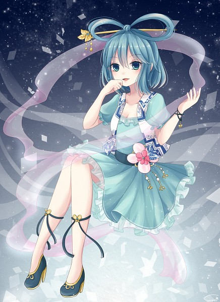 Tags: Anime, Sumi Mi, Touhou, Kaku Seiga, Shawl, Pixiv, Fanart, Fanart From Pixiv, Seiga Kaku