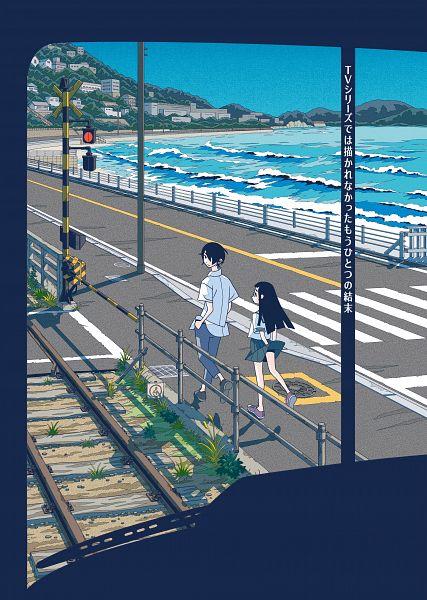 Tags: Anime, Kumeta Kouji, Kakushigoto, Gotou Hime, Gotou Kakushi, Railroad Tracks, Sign Board, Crosswalk, Official Art, Key Visual