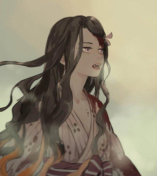 Tags: Anime, Kimetsu no Yaiba, Kamado Nezuko, Twitter, Fanart