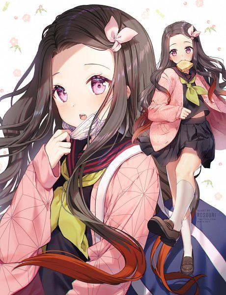 Tags: Anime, Rosuuri, Kimetsu no Yaiba, Kamado Nezuko, Fanart, Fanart From Pixiv, Pixiv
