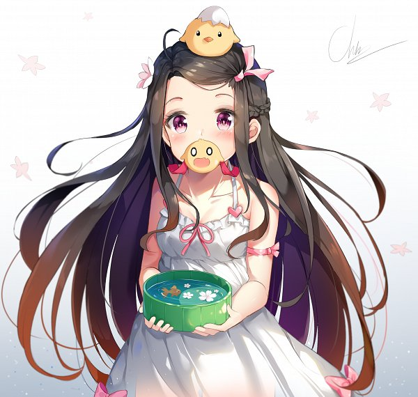 Tags: Anime, ChinTora0201, Kimetsu no Yaiba, Kamado Nezuko, Object On Head