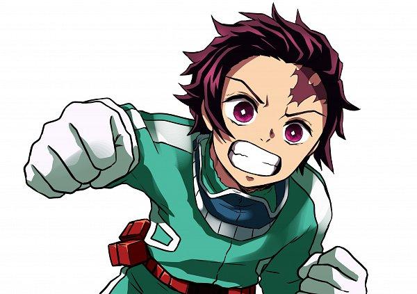 Tags: Anime, Pixiv Id 6504351, Kimetsu no Yaiba, Kamado Tanjirou, Midoriya Izuku (Cosplay)