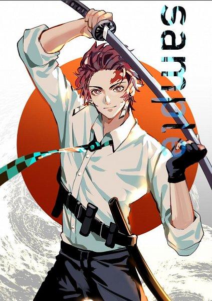 Tags: Anime, Pixiv Id 5904040, Kimetsu no Yaiba, Kamado Tanjirou, Text: Sample