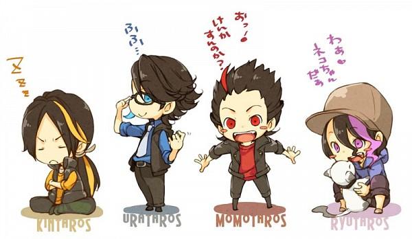 Tags: Anime, Chiko (Mizuho), Kamen Rider Den-O, Kamen Rider Series, Kintaros, Ryuutaros, Urataros, Momotaros, Fanart, Fanart From Pixiv, Pixiv