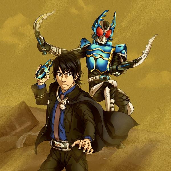 Tags: Anime, Pixiv Id 550591, Kamen Rider Kabuto, Kamen Rider Series, Kamen Rider Gatack, Kagami Arata, Kamen Riders