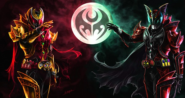 Tags: Anime, Kamen Rider Series, Kamen Rider Kiva, Kamen Rider Kiva (Character), Kamen Rider Dark Kiva, Kivat-bat Iii, Kamen Riders