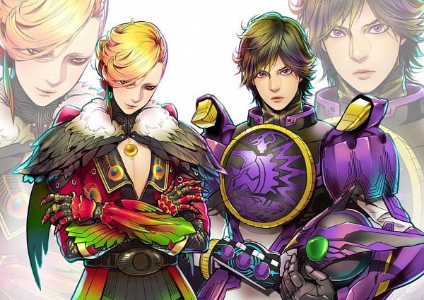 Tags: Anime, Kamen Rider OOO, Kamen Rider Series, Hino Eiji, Ankh, Pixiv, Fanart