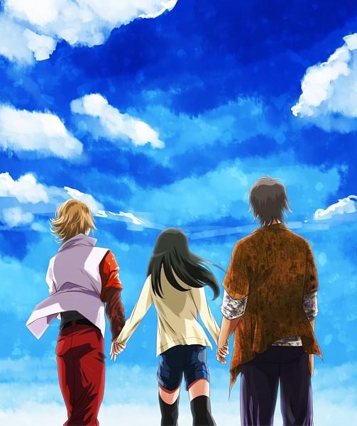 Tags: Anime, Ashi Ura, Kamen Rider OOO, Kamen Rider Series, Izumi Hina, Hino Eiji, Ankh, Pixiv, Fanart