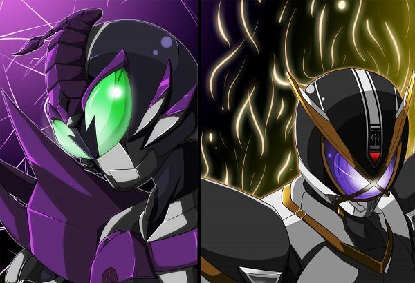 Tags: Anime, Pixiv Id 139630, Kamen Rider Kabuto, Kamen Rider Series, Kamen Rider 555, Kamen Rider Kaixa, Kamen Rider Sasword, Kamen Riders