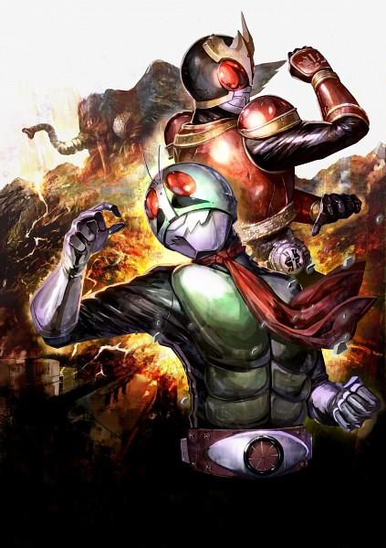 Tags: Anime, Saku (Pixiv 317810), Kamen Rider, Kamen Rider Series, Kamen Rider Kuuga, Kamen Rider Ichigo, Kamen Rider Kuuga (Character), Kamen Riders