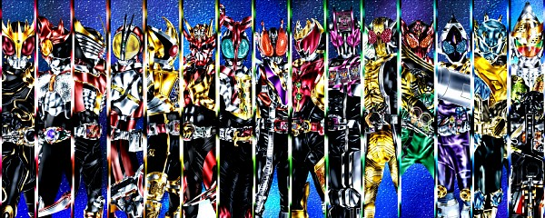 Tags: Anime, Kamen Rider Gaim, Kamen Rider Decade, Kamen Rider Kabuto, Kamen Rider OOO, Kamen Rider Wizard, Kamen Rider 555, Kamen Rider Ryuki, Kamen Rider Den-O, Kamen Rider Kiva, Kamen Rider Hibiki, Kamen Rider Kuuga, Kamen Rider Fourze